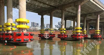 为蒸阳大桥订制安装的固定式复合材料桥梁防撞设施